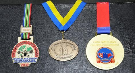 実力で手に入れたメダルたち