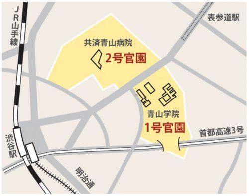 東京官園地図