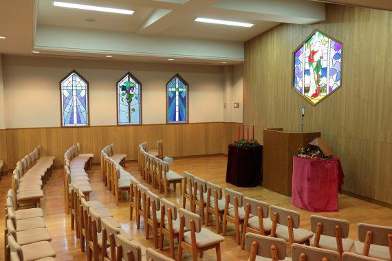 青山学院の礼拝堂〈1〉 幼稚園 礼拝室