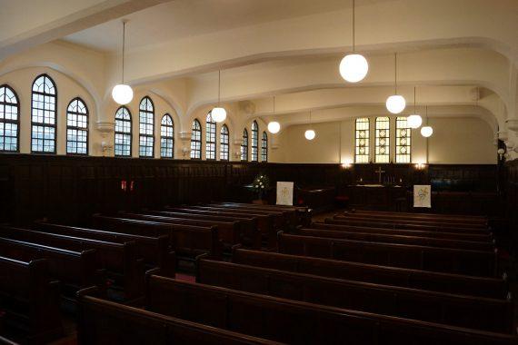 青山学院の礼拝堂〈7〉 学院本部 チャールズ・オスカー・ミラー記念礼拝堂