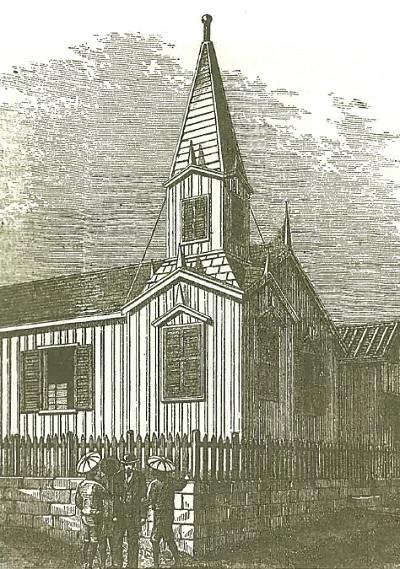 美會神学校の構内にあった天安堂と呼ばれた教会