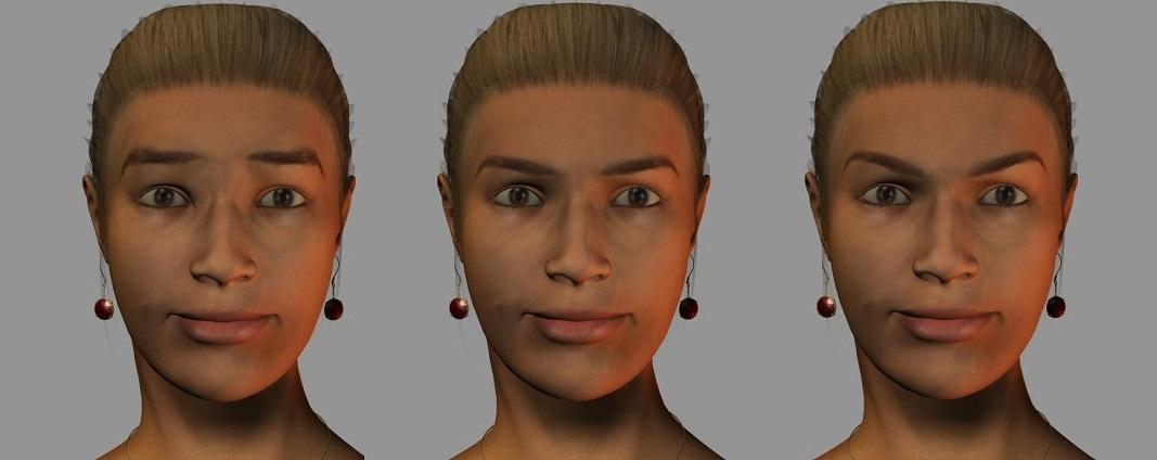 眉の角度三種類