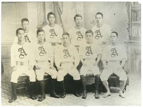青山英和学校(青山学院)野球部 1893年撮影