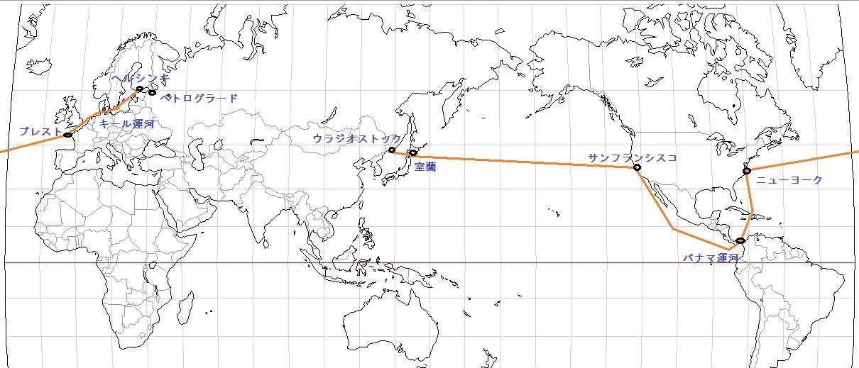 陽明丸航海の図
