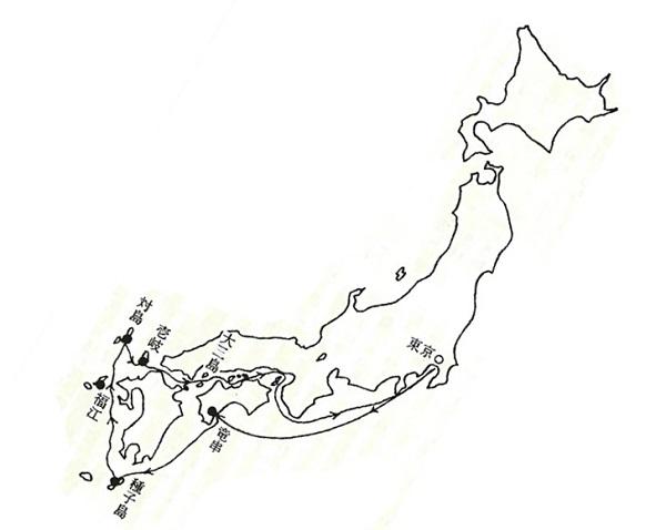 第2回青山学院洋上小学校 航程(1975年)