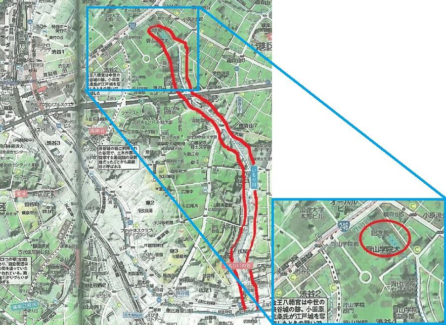 水源を示した地図より